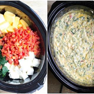 Crock Pot Spinach & Bacon Queso Dip.