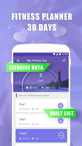 My Fitness Day—lose weight at home Fitness app screenshot 1 for Android