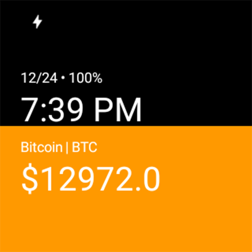 CryptoWear - Bitcoin Watch Face