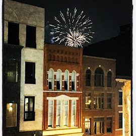 Nashville by Mary Phelps - Buildings & Architecture Public & Historical ( nashville, tennessee, night, buildings, downtown, fireworks, architecture,  )