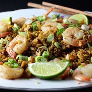 Fried Cauliflower Rice & Shrimp.