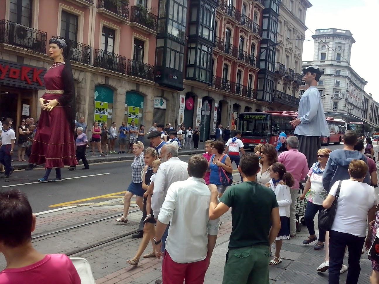 gigantes y cabezudos en semana grande Bilbao 2015
