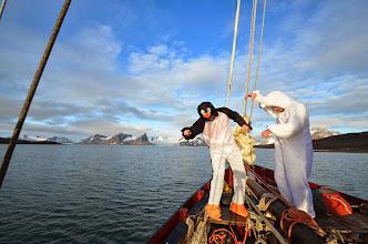 Photo: Petite chorée à l'avant du bateau