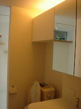 Photo: 洗面所にも沢山の収納があります。