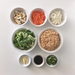 Vegetarian Stir-Fried Ramen.