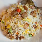BBQ Chicken & Egg Fried Rice