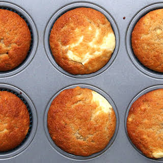 Cream Cheese–FIlled Banana Bread Muffins.