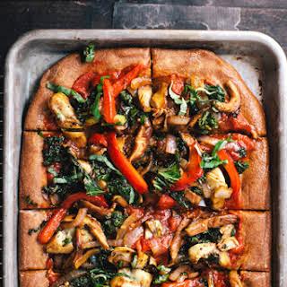 Roasted Veggie Cheeseless Pizza + Atlanta Apartment Tour.
