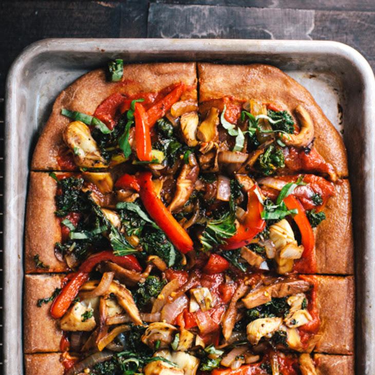 Roasted Veggie Cheeseless Pizza + Atlanta Apartment Tour