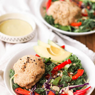 Asian Tempeh-Quinoa Salad with Wild Greens.