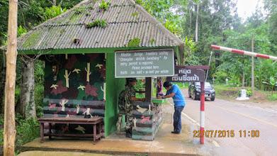 Photo: National Park entrance on the road to Muang Khong