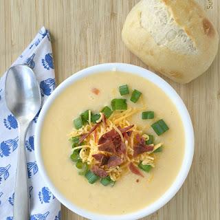 Loaded Cauliflower Cheese Soup.
