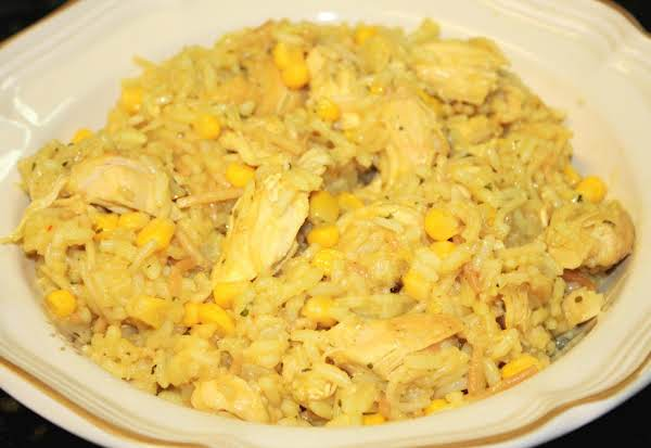 Microwave Chicken Rice And Corn Recipe