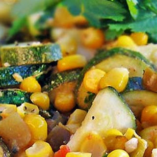 Calabacitas Recipe with Summer Corn, Zucchini, Green Chiles and Lime