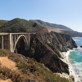 Behind Monterey pt. 2 by Augustin Anic - Landscapes Travel ( waves, ocean, beach, bridge, formation,  )
