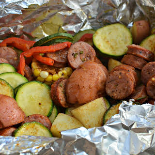 Sausage and Veggie Ton Foil Packets.