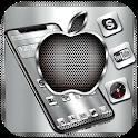 Black Apple Shiny Crystal Launcher Theme 🍎 icon