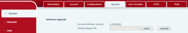 Manually update a Fanvil Infrastructure Device's firmware