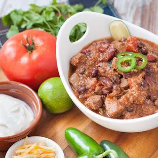 Pressure Cooker Beef Chili