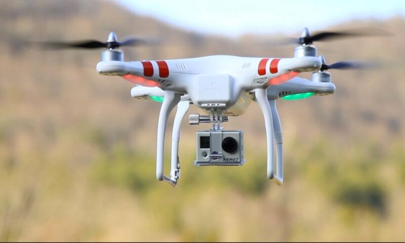 Drone e GoPro
