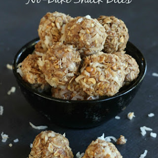 No-Bake Peanut Butter Coconut Snack Bites.