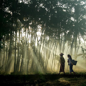 morning spirit... by Budi Cc-line - City,  Street & Park  Vistas