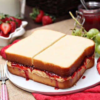 Peanut Butter and Jelly Sandwich Cake.