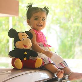 My sweety by Adithyan Madhav - Babies & Children Children Candids ( potrait, beauty, candid, baby, girl )