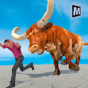 Angry Bull Attack Simulator: Animal Fighting Games icon
