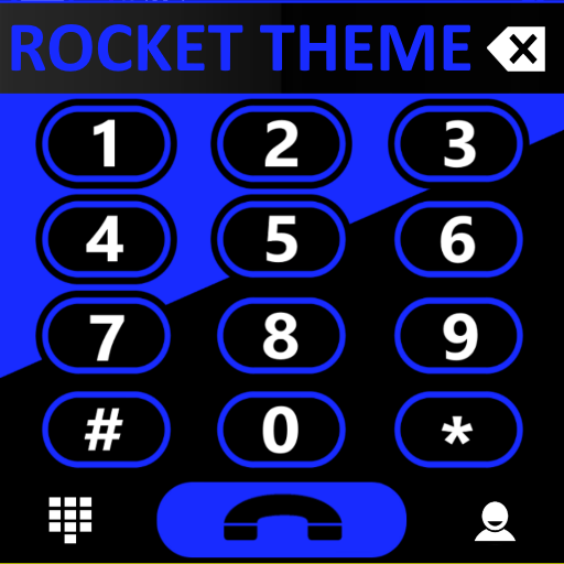 Theme Rocketdial Mixer Blue