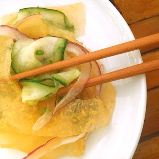 Cucumber Melon Salad With Yuzu-Jalapeño Dressing