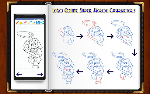 Learn How to Draw Lego Comic Super Heroes - Aplicaciones en Google Play