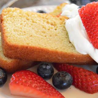 Almond Flour Sour Cream Pound Cake.