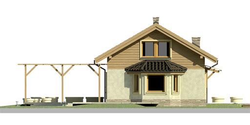 Dom przy Imbirowej 2 - Elewacja lewa