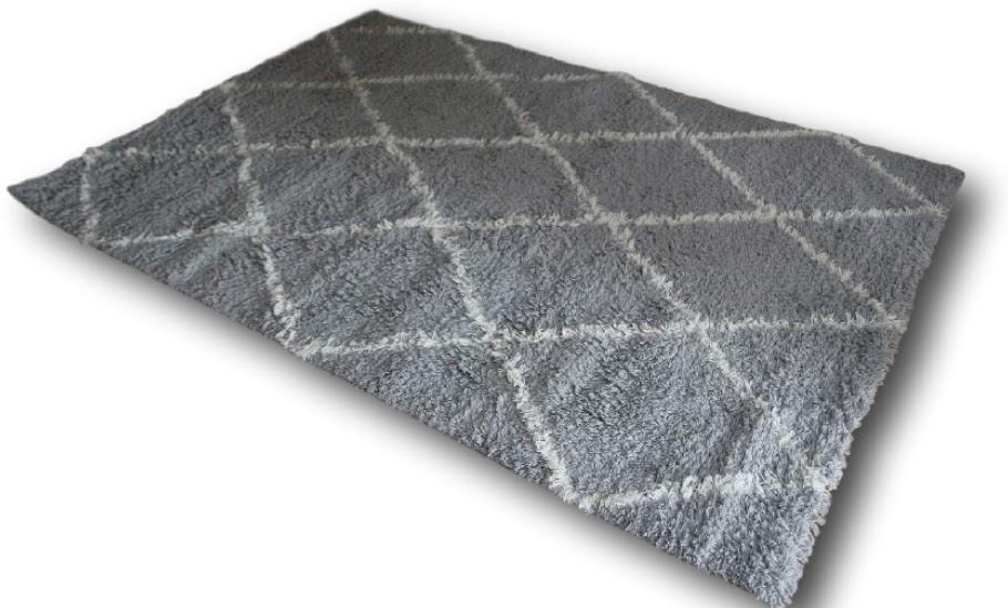 ręcznie tkany wełniany dywan shaggy luxor living iceland