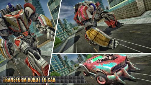 Télécharger Real Gangster Robot Car Transform Game 2020 APK MOD (Astuce) screenshots 5