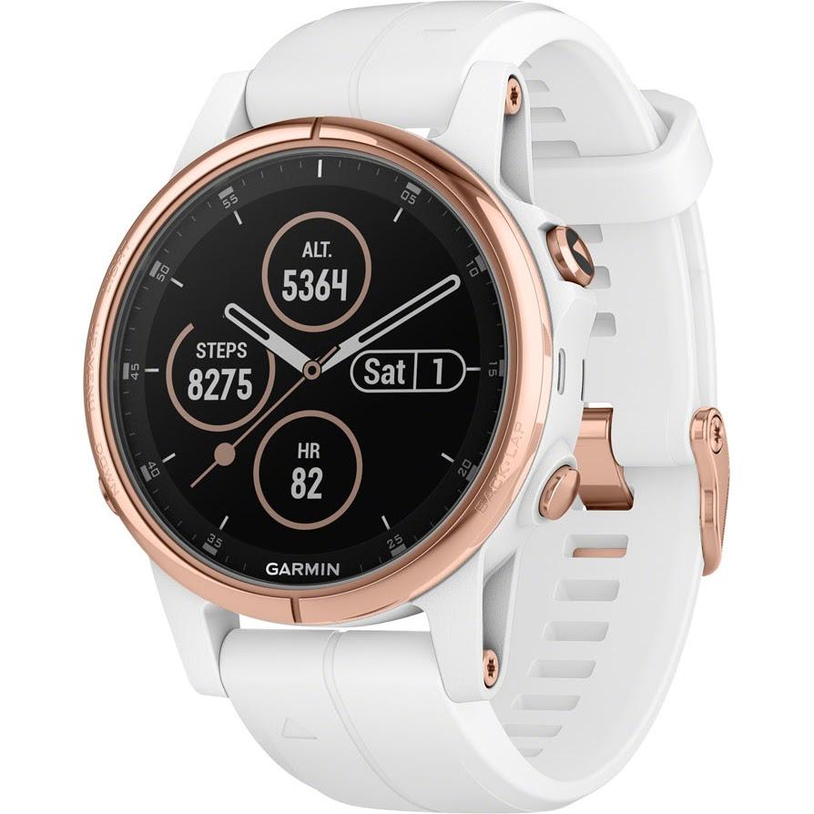 Garmin Fenix 5S Plus Sapphire GPS Watch  pink gold White