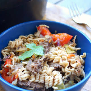 Slow Cooker Asian Beef and Ramen Bowls.