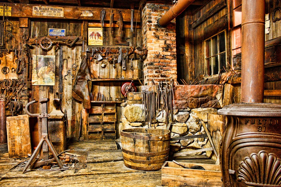Blacksmith Shop by Ruth Sano - Artistic Objects Industrial Objects (  )