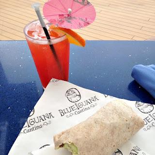 Homemade BlueIguana Cantina Burrito.