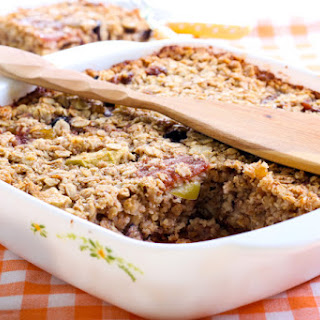 Cranberry Ginger Baked Oatmeal