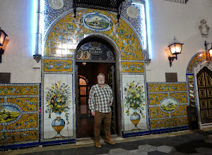 Photo: Jim at the entrance to the Columbia Restaurant, founded in 1905
