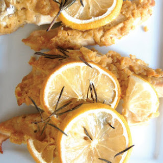 Hummus Crusted Chicken with Rosemary and Lemon