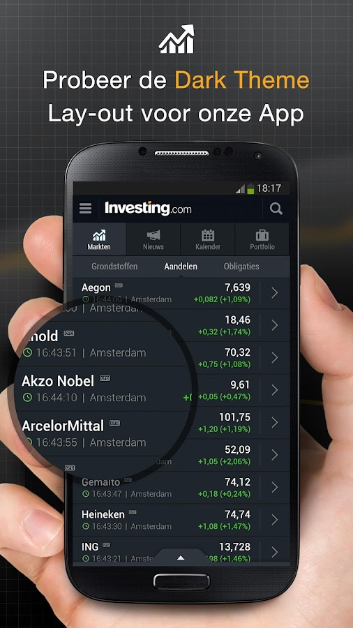 Investing.com Aandelen & Forex: screenshot