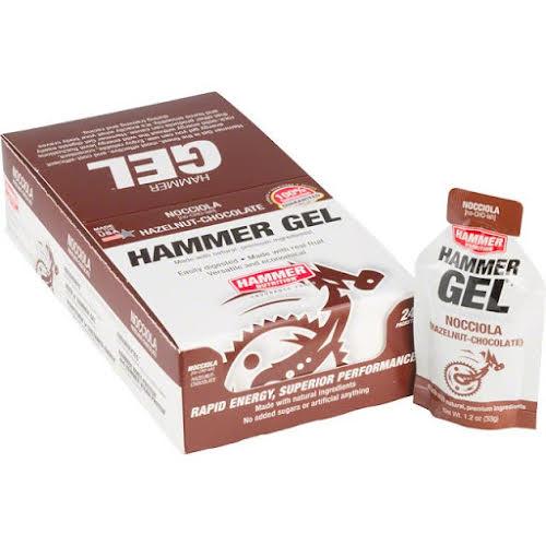 Hammer Nutrition Hammer Gel: Hazelnut Chocolate, 24 Single Serving Packets