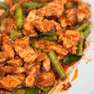 Gai Pad Prik Gaeng Recipe (ไก่ผัดพริกแกง).