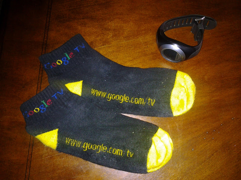 Photo: The socks (From Google I/O 2010!) that logged many of the rides between 35 and 60 degree days.