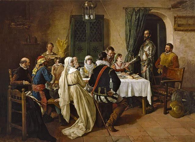 Don Quijote de la Mancha a la mesa de los duques
