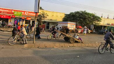 Photo: Lots of bikes, Matatus (mini-buses), tuk-tuks in cities and rural areas