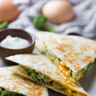 Broccoli Cheddar Breakfast Quesadillas